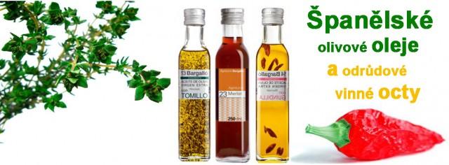 Olivové oleje a vinné octy